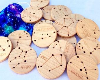 Wooden Constellation Coins