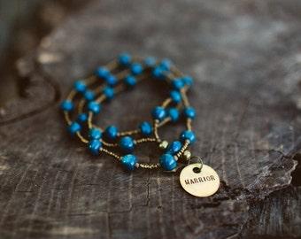 Deep Sea Blue Necklace/Warrior