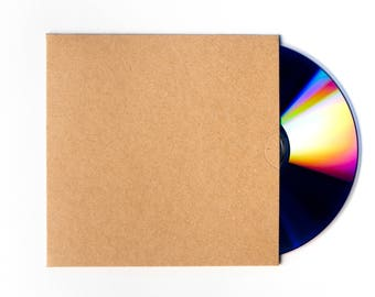 50 Brown Recycled Kraft Card CD DVD Sleeve/Wallet/Cover Unbranded/Blank Brand New