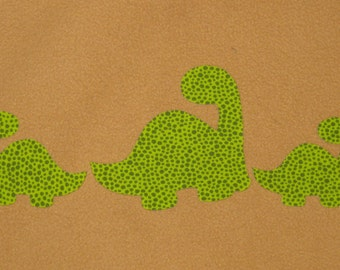 Handmade Fantasy Applique set of 3 Dino's - infant applique, toodler applique, applique, DIY handmade