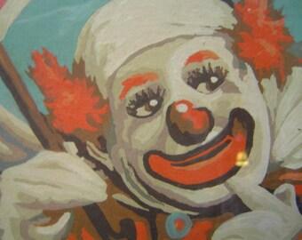 Unusual, funny, clown painting, Original!