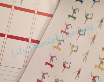 42 Gymnastics Dance Planner Stickers for Erin Condren Life Planner (ECLP) Reminder Sticker LDD1180