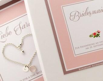 925 Silver wedding bridesmaid bracelet gift