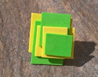 Green and yellow rubber ring