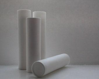 Vase tube en grès anglais fine bone china - soliflore