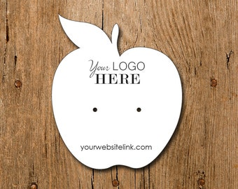 Apple Shape | Custom Earring Display Cards with Your Logo | DS101