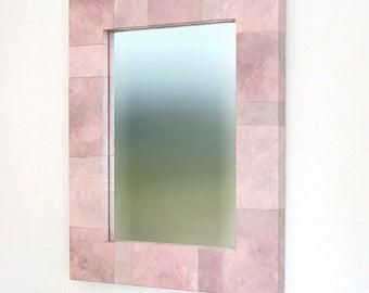 On Sale - Pink Mirror, Modern Hanging, 16.5 X 21.5