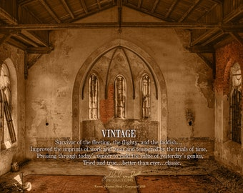 Vintage/Old Building/Old Church/Sanctuary/Wall decor
