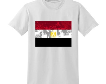 Russia World Cup 2018 Graphic Tshirt EGYPT Flag Football Team Soccer Country
