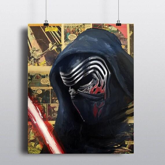 Kylo Ren Star Wars Acrylic Painting SIGNED Fine Art Print
