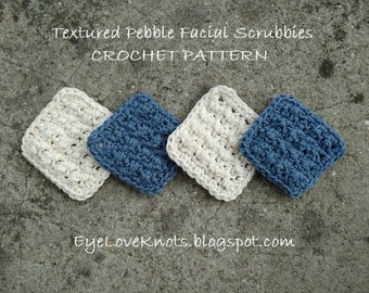 CROCHET PATTERN - Textured Pebble Facial Scrubbies - Facial Scrubbie Pattern, Facial Scrubby Pattern, Permission to Sell Items