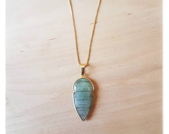 """""""Alyssa"""" Labradorite necklace"""