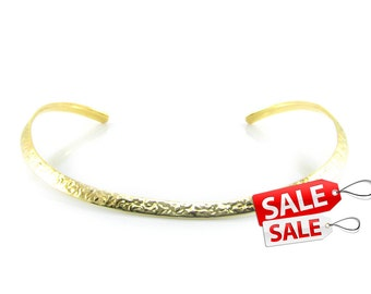 Gold Choker Nacklace Gold Collar Necklace Hammered Gold Necklace Brass Choker Necklace Gold Brass Necklace Gold Hammered Necklace 070