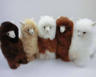 13 IN 11 IN 9IN Handmade Alpaca Stuffed Animal Plush Alpaca  Fur/Llama fur teddy alpaca Standing handmade Peruvian alpaca fur animal toy