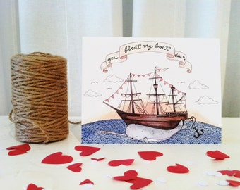 You Float My Boat, Dear Greeting Card