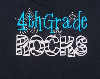 4th Grade Rocks shirt Fourth Grade Rocks Teacher shirt School shirt
