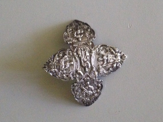 1680-1750 Silver Adornment or Buckle 17th Century
