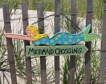 Mermaid, Mermaid Crossing hanging sign