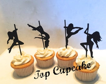 Pole Dancing Inspired Cupcake Toppers -12