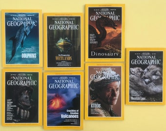 vintage National Geographic magazines: select one (or more) 1992-1993.