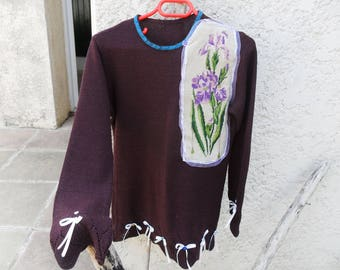 Fashion women canvas sweater recycled clothes
