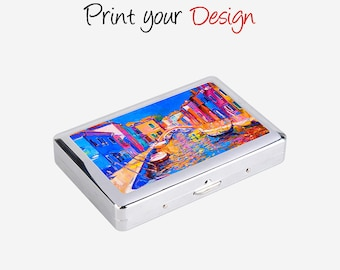 Oil painting style Sublimated Cigarette Box YHE05