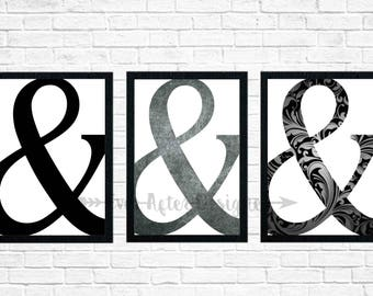 Ampersand Printable ~ Ampersand Decor ~ & Symbol ~ Printable ~ Love Printable ~ Wedding Printable ~ Wedding Decor ~