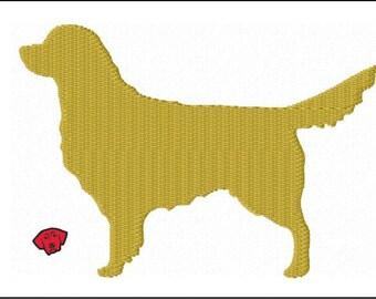 Golden Retriever Mini Embroidery Designs in 5 sizes