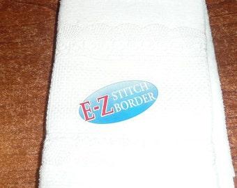 Charles Craft E-Z Stitch Border Cross Stitch Fingertip Towel