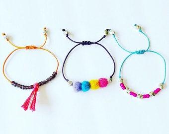 Handmade Essential Oil Diffuser Bracelet Trio