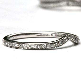 Matching wedding band for FL01 Flower ring wedding band - 14k
