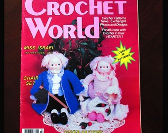 Crochet, Crochet Patterns, How to crochet, Crochet World Vintage Feb. 1986