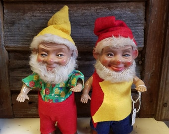 Gnomes very old antique years 40 dolls. Collectable