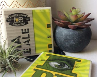 Tile Coaster | Set of 2 | Lakefront Brewery