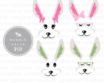 bunny face svg, Easter svg, rabbit face svg, svg easter files, Easter shirt svg, bunny svg files, Easter clipart, Bunny clipart, easter girl