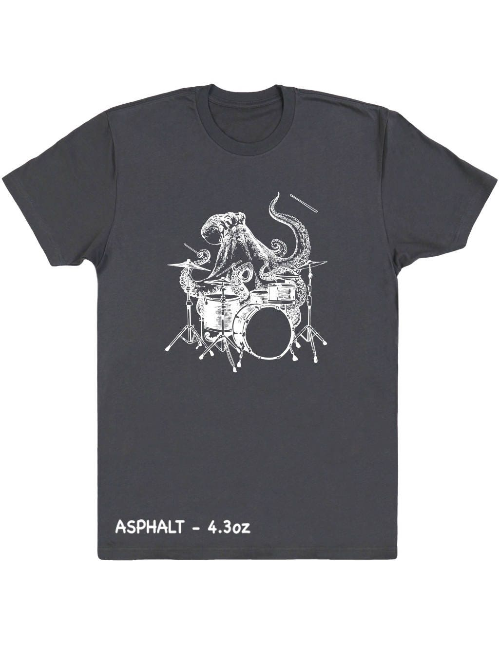 Octopus Playing Drums Men's T-Shirt Gift For Him, Octopus Shirt Boyfriend Gift Husband Gift, Musician Birthday Gift, Christmas Gifts SEEMBO