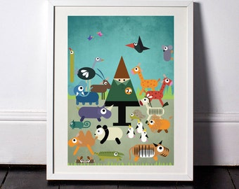 Z is for Zoo A3 Poster taken from my Little Book of Londoners