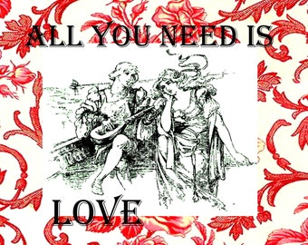 All You Need Is Love Digital Stamp Set