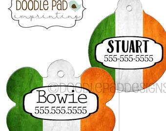Irish Flag Pet ID Tag, Irish Dog Tag