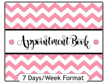 7 Day per Week Yearly Appointment Book