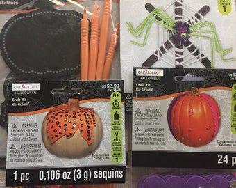 Halloween Themed Craft Kits for Kids.