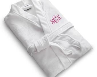 Women's Personalized Microfiber Robe - Embroidered Robe - Personalized Bath Robe - Bath Robes - Gifts for Her - Bridesmaid Gifts - RO162