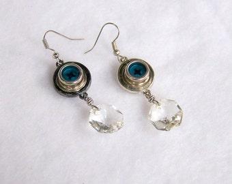 Steampunk Recycled Earrings  SEK82