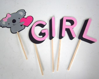 Koala bears, It's a girl, baby shower, koala theme, party decoration, safari theme