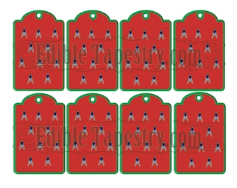 Watermelon Picnic Hang Tags~Watermelon Colors With Picnic Fly Graphic Printable Instant Digital Downolad Gift Tags Picnic Basket Gift Tags