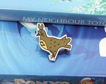 Studio Pidgli Pigeon Parody Illustration Brooch - Totoro