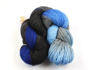 Cumulus--hand dyed sock yarn, BFL and nylon, (464yds/100gm)