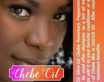 Chebe Hair Growth Oil - 2nd Best Seller of Chebe Products - See REVIEWS Below From other shops- With Ostrich Oil