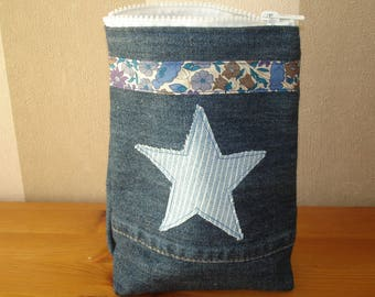 Colorful pouch jean and her star