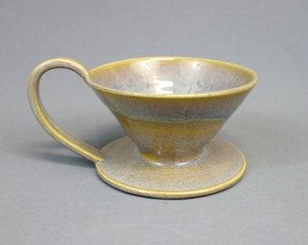 Fait à la main en céramique Pour cône café, sable et Surf, versez sur la machine à café, tasse cafetière, café versez sur la tasse avec anse